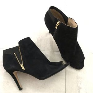 Marc Fisher Ankle Boot Black Peep Toe Size 8.5